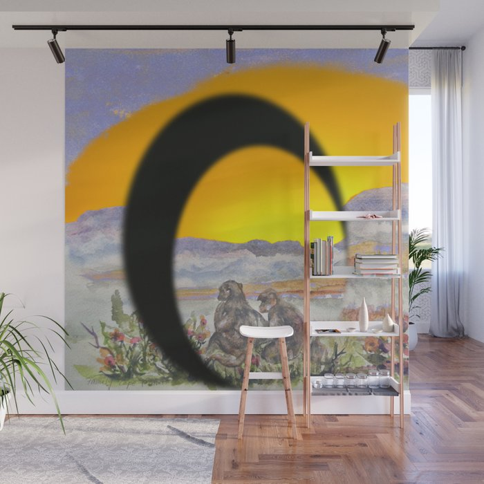 African Sun Family Wall Mural by crismanart Society6