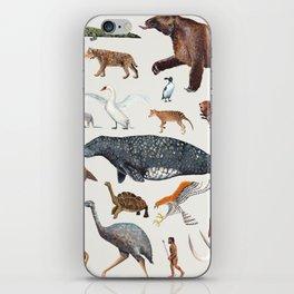 Animal chart of the Holocene extinction iPhone Skin