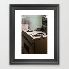 river stove Framed Art Print