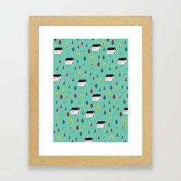 Countryside Pattern Framed Art Print