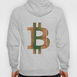 Bitcoin Peru green streaked wash drawing Hoody