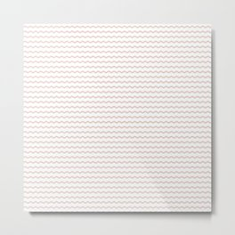 Rose pale geometrical zigzag pattern Metal Print
