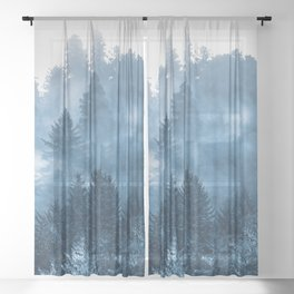 Blue Forest Melody  - 18/365 Sheer Curtain