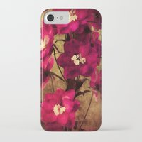 vintage flowers iPhone & iPod Cases featuring Vintage Flowers by Christine Belanger