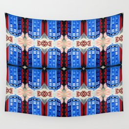 British Blue Police Public Call Box - Nexus 32 Wall Tapestry