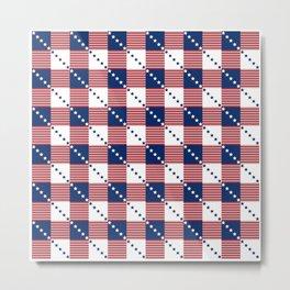 Patriotic Pattern | United States Of America USA Metal Print
