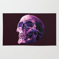 skull Area & Throw Rugs featuring Skull by Roland Banrevi