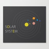 solar system Canvas Prints featuring Solar System by Loaded Light Photography