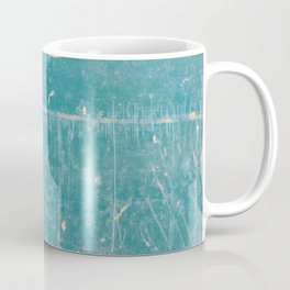 Canoe Texture Photography - Teal Scratched Texture Coffee Mug