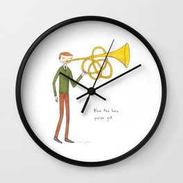 blow the horn you've got Wall Clock