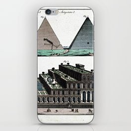 Pyramids and Floating (Suspended) Gardens of Babylon iPhone Skin