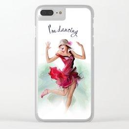 dancing ballerina3 Clear iPhone Case