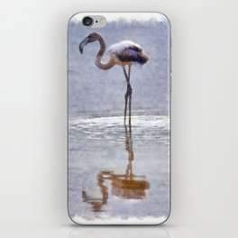 Flamingo Ripples and Reflections Watercolor iPhone Skin