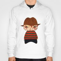 freddy krueger Hoodies featuring A Boy - Freddy Krueger by Christophe Chiozzi
