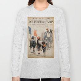 Vintage poster - Journee de Paris Long Sleeve T-shirt