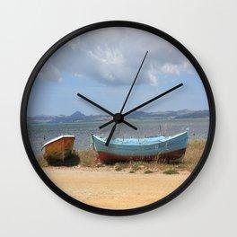 Old Rusty Boats Wall Clock