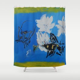 Chipper and the Bee Shower Curtain