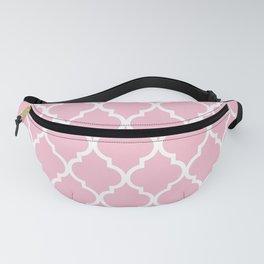 Classic Quatrefoil Lattice Pattern 731 Pink Fanny Pack