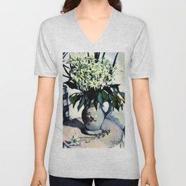"""Flannel Flowers"" by Australin Margaret Preston Unisex V-Neck"