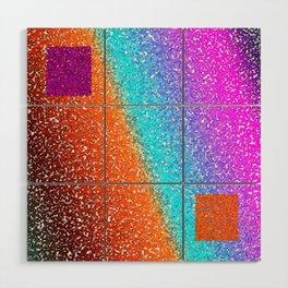Rainbow Cubes Wood Wall Art