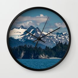 Kachemak_Bay Mountains - Alaska Wall Clock