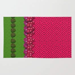 """""""Spring and summer strawberries paper"""" Rug"""