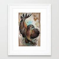 hawk Framed Art Prints featuring Hawk by ChaniMurat
