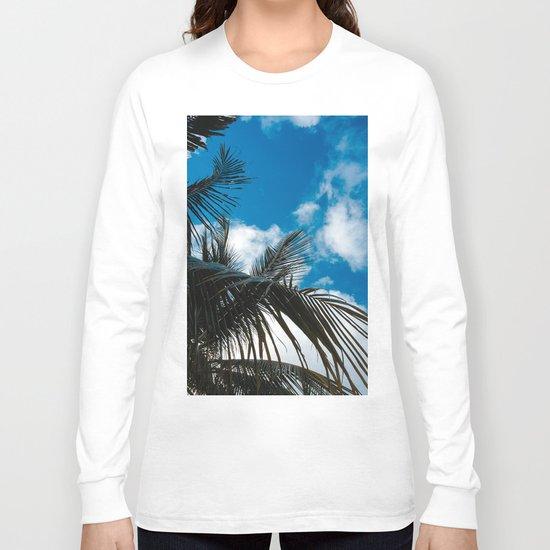 Sky behind the trees Long Sleeve T-shirt