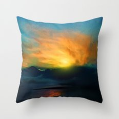 In the sunrise Throw Pillow