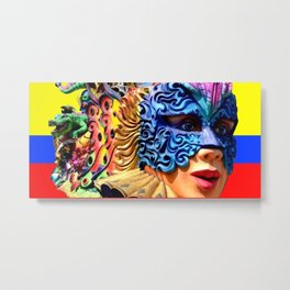 Carnival, Barranquilla,Colombia Metal Print