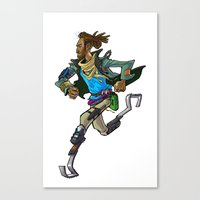 runner Canvas Prints featuring Runner by Kristal Babich