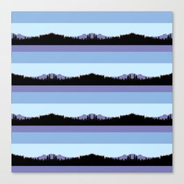 Abstract mountains horizons 2 Canvas Print