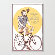 Keep Austin Weird by Kat Mills Canvas Print