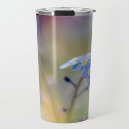 Forget-Me-Not Blue Floral Travel Mug