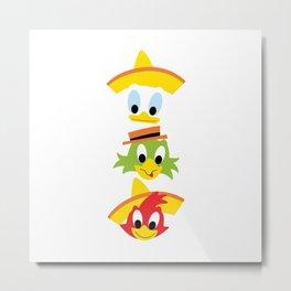 The Three Caballeros Metal Print