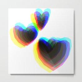 Heart CYMK Metal Print