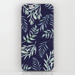 Floating Leaves Blue 2 #society6 #buyart iPhone Skin