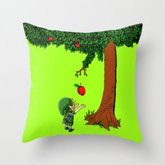Link Zelda with an apple tree iPhone 4 4s 5 5c, ipod, ipad, pillow case tshirt and mugs Throw Pillow