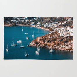 Sailing boats in the island of Leros Rug