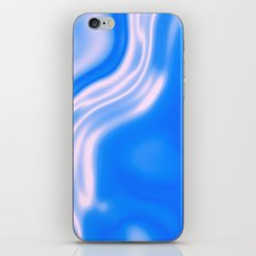 blue and white waves iPhone & iPod Skin