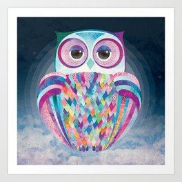 Shanti Sparrow: Luna the Owl Art Print