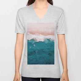Sea, Pastel Beach Unisex V-Neck
