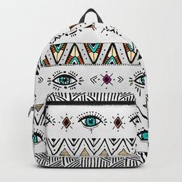 Pattern Indie boho eyes Backpack