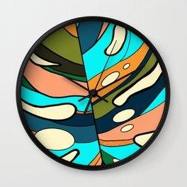 Monstera leaf design Wall Clock