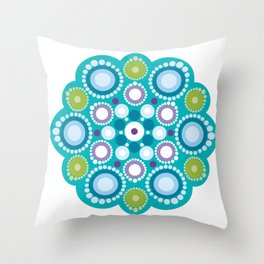 Lotus mandala flower Throw Pillow