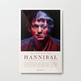 Hannibal - Season 1 Metal Print