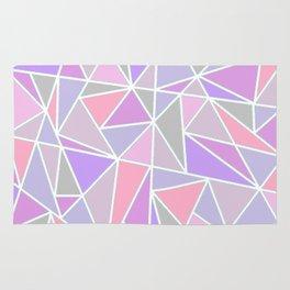 Pastel Shards Geometric Pattern Rug