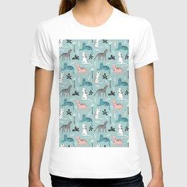 Tigers Animals Prints patterns T-shirt