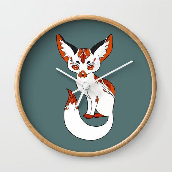 Mysterious Fox Wall Clock