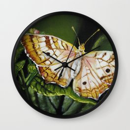 """Original Painting """"Butterfly Broadly"""" Wall Clock"""